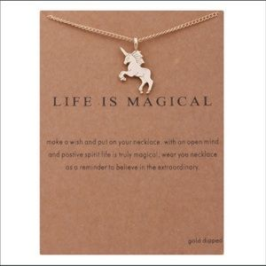Jewelry - ‼️LAST1 ‼️ Dainty Gold Unicorn Necklace